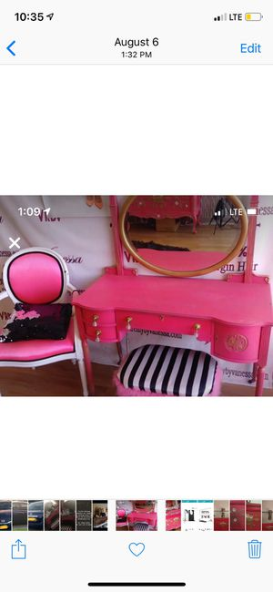 Hot pink vanity for Sale in Union Beach, NJ