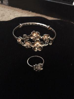 Flower bracelet and ring set for Sale in Norfolk, VA