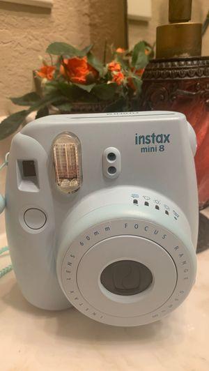 blue instax mini 8 fuji film instant camera for Sale in Houston, TX