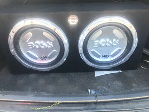 Subwoofers and amp for Sale in Phoenix, AZ