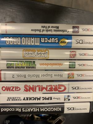 Nintendo 3ds and ds games for Sale in Dallas, TX
