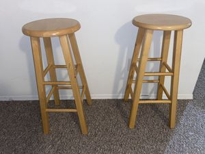 2 Wooden Bar Stool for Sale in Kissimmee, FL
