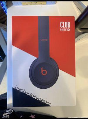 Beats Solo 3 wireless Navy Blue/White for Sale in Boca Raton, FL