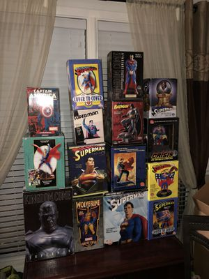 Statue / Figure Collection Super Hero's Set of 15 Boxes of Collectibles Superhero Action figures Condition is New. for Sale in Peachtree Corners, GA