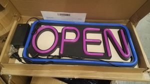 Sign OPEN led light water proof for Sale in Compton, CA