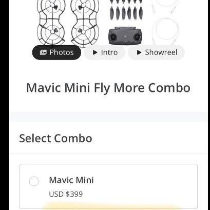 Mavic Fly Combo Drone