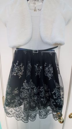 Girls Holiday Flower Dress With Fluffly Fur Cardigan for Sale in Lawrenceville,  GA