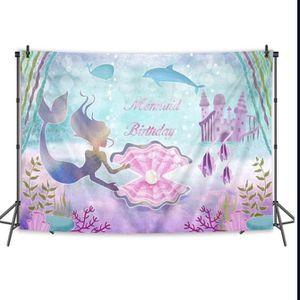 Mermaid Birthday Back Drop for Sale in Tustin, CA