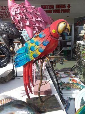 Colorful metal parrot garden decor for Sale in Dunedin, FL