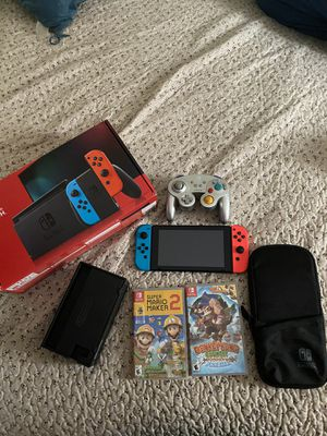 Nintendo Switch latest model comes with games and controller for Sale in Los Angeles, CA
