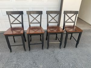 4 FARM STYLE STOOLS for Sale in Fresno, CA