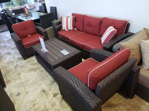 Brand New Patio Furniture Sofa and two chairs and coffee table tax included and free delivery for Sale in Hayward, CA