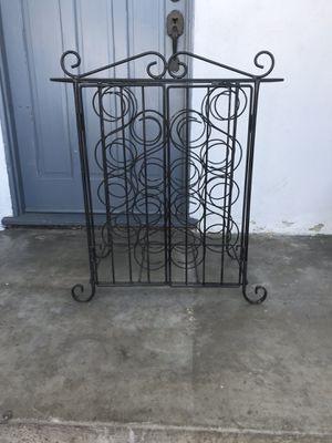 Rod iron wine rack for Sale in Garden Grove, CA