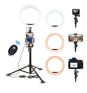 """10"""" Dimmable Selfie Ring Light with Adjustable Tripod Stand & Phone Holder for Sale in Springfield, VA"""
