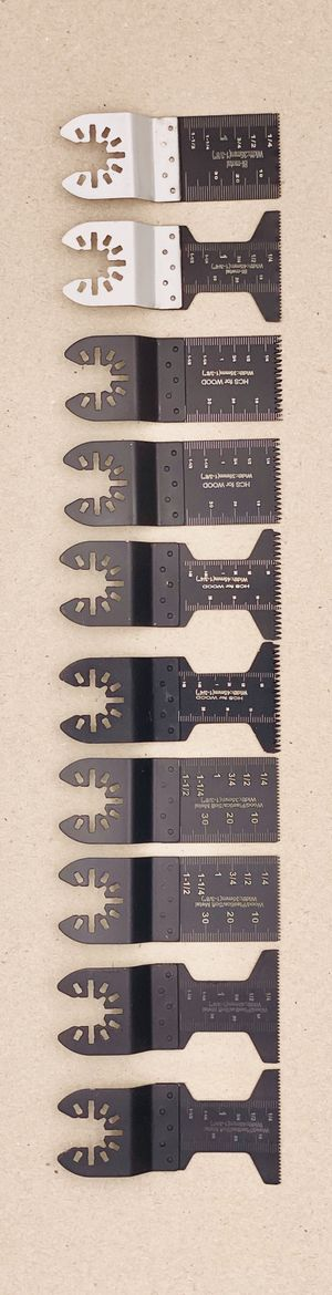 Oscillating Saw Blades 10 PC Metal Wood Multitool Blades Quick Release Cutting Blade Fit Dewalt Milwaukee Dremel Chicago Rockwell Fein Bosch Multimas for Sale in Columbia, MD
