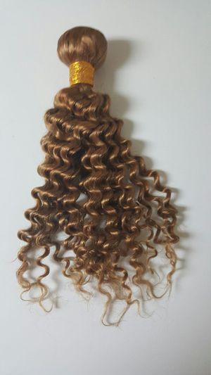 Brazilian human hair deep curly honey blonde 10,12,14 for Sale in Lanham, MD