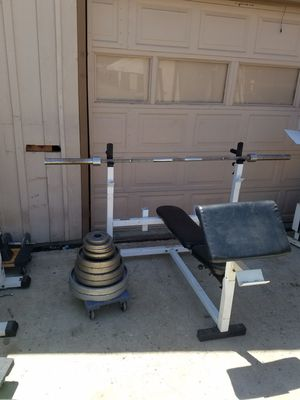 Heavy duty weight set for Sale in Colton, CA