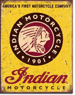 Indian Motorcycle Metal Sign #1934 - New and Bagged for Sale in Gresham,  OR