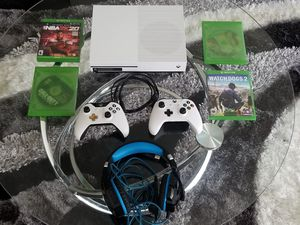 Xbox 1 S Series 1TB w/ games and headset for Sale in Wake Forest, NC