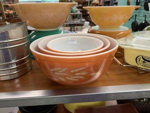 Vintage Pyrex Harvest Wheat Set of Mixing Bowls - PLEASE READ DESCRIPTION for Sale in Mesa, AZ