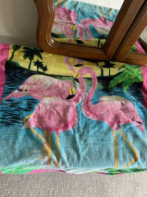 Vibrant Colored Flamingo Beach Towel for Sale in San Diego, CA