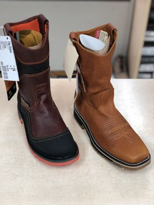 work boot bota de trabajo asemos entregas a domicilio work boots we deliver for Sale in Norcross, GA