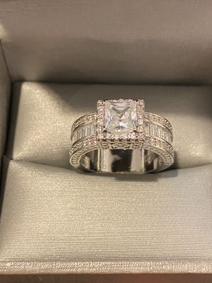 Stamped 925 Sterling silver Engagement Ring 💍- Code OBI600 for Sale in Dallas, TX