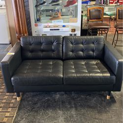 For sale Black leather Sofa Floor Model $399 Discounted for Sale in Detroit,  MI