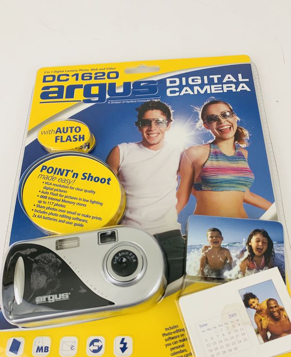 Argus DC1620 Digital Camera VGA Mp Black Silver New Sealed