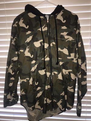 Women's 14 Long jean jacket hoodie for Sale in Haymarket, VA