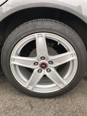 """17""""rtx rims with kumho tires honda/toyota/etc... for Sale in Champaign, IL"""