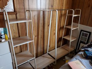 Garment Racks with Attached Shelves for Sale in Las Vegas, NV