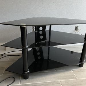 3 Tier Tampered Glass TV Stand for Sale in Las Vegas, NV