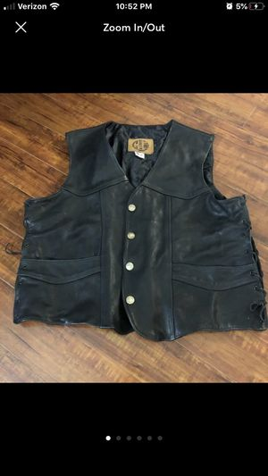 kerr cowboy cut Leather riding motorcycle vest for Sale in Fontana, CA