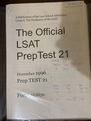 LSAT preptest 21-50 for Sale in Cerritos, CA