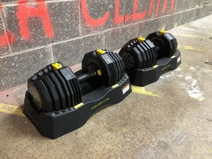 Golds Gym 110 lb. Select-A-Weight Dumbbell Set for Sale in Addison, IL