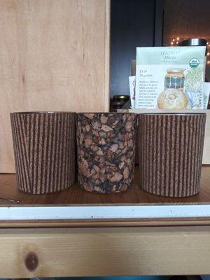 Small cork/glass planters for Sale in Denton, TX