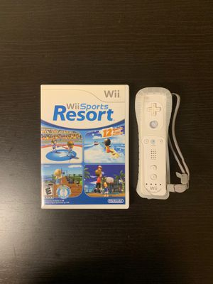 Wii Sports Resort game with Wii Motion Controller for Sale in Libertyville, IL