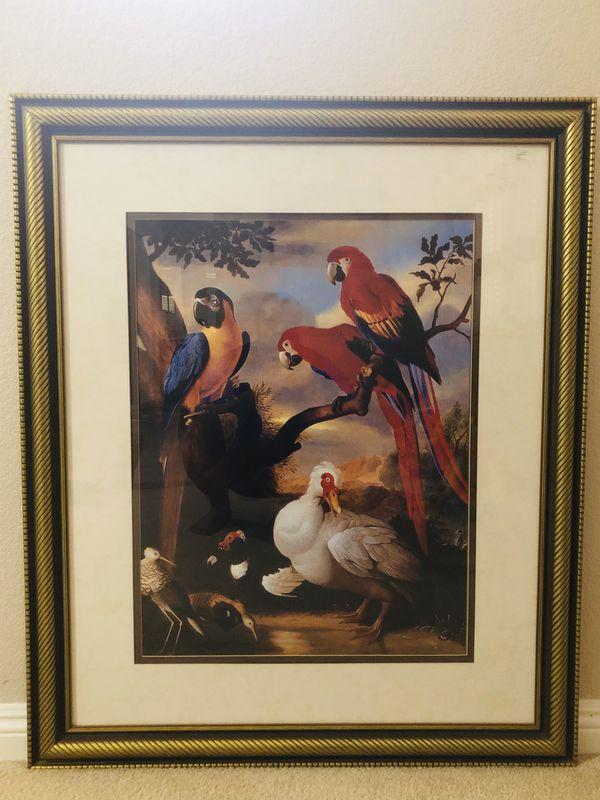 Beautiful Framed Wall Decoration ( Birds) Size/ Dimension (46/34)
