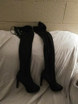 Black Thigh Boots Size 8.5 for Sale in Hyattsville, MD