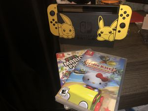 Pikachu switch for Sale in Rancho Cucamonga, CA