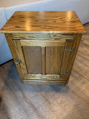 Antique White Clad Oak Ice Box Night Stand End Table Cabinet for Sale in Las Vegas, NV