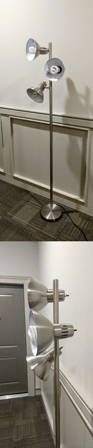 Stainless Steel Standing Floor Lamp for Sale in Durham, NC