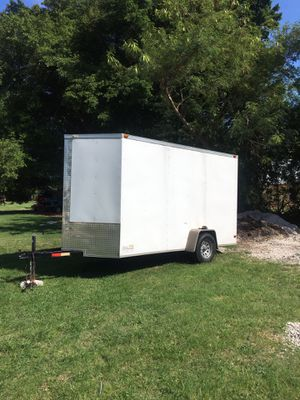 Trailer enclosed clean title 6 x 12 It's 2017 extra foot high for Sale in Stuart, FL