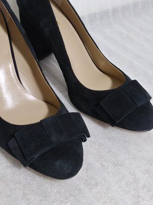 Ann Taylor shoes. Size 9 heels. Black suede. Brand new with tags for Sale in Portsmouth, VA