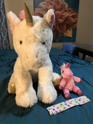 Plush unicorn stuffed animals and head band for Sale in Norman, OK