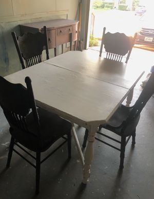 Farmhouse Table + Antique Chairs for Sale in Austin, TX