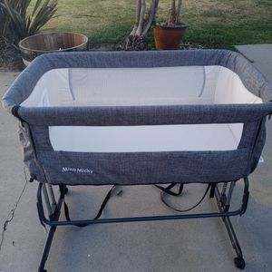 Mika Mickey Bassinet & Ubbi Diaper Pail!! for Sale in Long Beach, CA