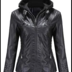 Super Cute Faux Leather Jacket Size 2/3X for Sale in Salinas, CA