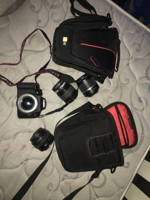 Canon EOS lenses and case included for Sale in Hartford, CT